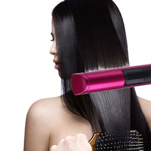 Hair Straighteners 2 In 1 LED Wireless USB Rechargeable Straightener Curler Curling Tool