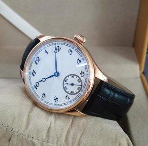 Нет логотипа 40 мм розовый золотой чехол белый набор синий ручной ручной механические мужские часы минеральные стекла сапфировые кристаллические наручные часы