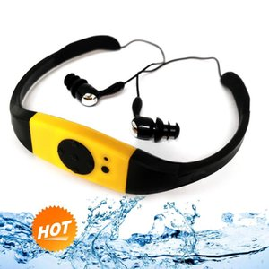 & MP4 Players 8GB IPX8 Waterproof MP3 Player Radio FM Head Wearing For Diving Swim Surfing Underwater Sports Music
