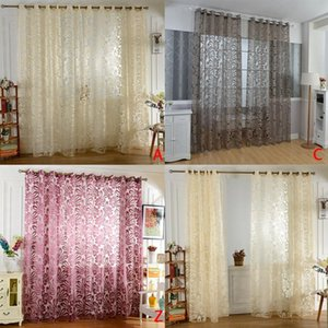 Curtain & Drapes 1 PCS Sheer Curtains Geometric Window Tulle Jacquard For Living Room Bedroom Panels Kitchen Custom Made