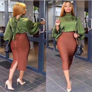 Vestios Woman Celebrity Bandgae Skirt Elegant Pencil Skirt High Quality Celebrity Sexy Club Party Wear Vintage Ailigou 2021 New