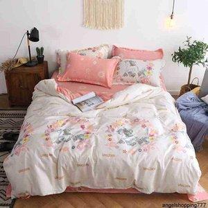 Ropa de cama de impresión de unicornio 2 unids / 3pcs / 4pcs Funda de edredón Set 1 edredón Cubierta + 1 Hoja plana +1/2 Pillowcasas Twin Full Reina King
