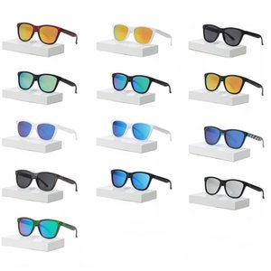 세련된 선글라스 여성 남성용 선글라스 자전거 타는 태양 안경 음영 고글 눈부신 컬러 미러 렌즈 표준 안경