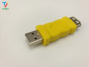 wholesales USB aparter USB 2.0 A male Plug to B female jack AM to AF converter yellow black color be used in PC or phone