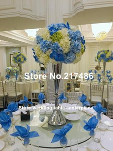Wedding Gold Iron Or Sliver Pillar Flower Stand Centerpiece For Decoration Party