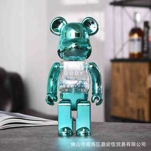 Bearbrick Violence Building Block Bear Electroplating Series Fashion Play Net Red Doll Hand Held Female Gift 400%