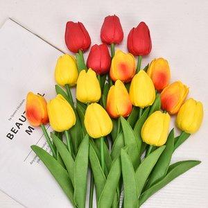 PU Mini Tulip Artificial De Mariage Décoration Soie Fleur Accueil Artificiels Artificiels Fashion Fashion Articles 2174 V2