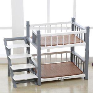 Дома для собак Питомные аксессуары Стильная деревянная кровать PEET PEET Mattress Cat Bunk Bearding Solid
