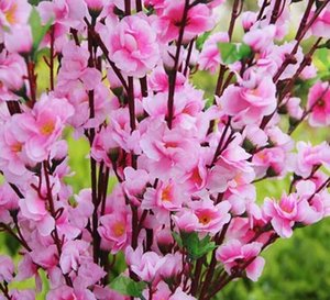selling Silk Flowers Garden Party Decoration wedding decorations Natural Large Artificial Fabric Cherry Blossom 5 Color