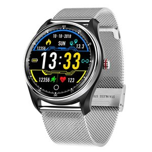 HRV Report Intelligent Watches For Men Waterproof Mens Touch Screen Watch Heart Rate Blood Pressure Monitoring Wristwatches