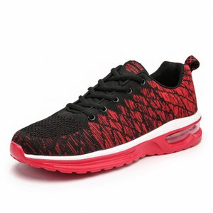 Men's 5099 Spring and Women's Running Shoes Flying Woven Air Cushion Shock Absorption Jogging Fashion Sneakers Low Top Mesh Surface LNPA