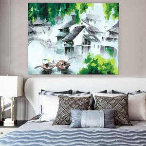 """Paintings DIY Oil Painting Paint By Numbers""""Abstract Ink Painting"""" Acrylic Drawing On Canvas Wall Art Hand Painted Home Decor"""