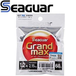 SEAGUAR Fishing Line Grandmax MAX 60M 100% FLUOROCARBON 0.65KG-13KG Power Good Light Transmission Wear resistant 210609