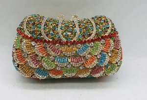 Women's New Arrival Rhinestones Purses-and-handbags In Totes Pouch Diamonds Evening Bridal Wedding Box Clutch Bags