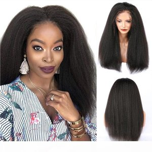 Yaki Straight 360 Lace Frontal Wigs 100% Human Hair Wigs 13X6 Short Bob Yaki Full Lace Wigs For Black Women
