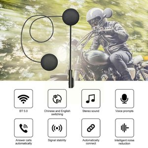 Walkie Talkie 900mah Long Standby Motorcycle Bluetooth 5.0 Headset Helmet Automatic Wireless Connection Riding C1q4