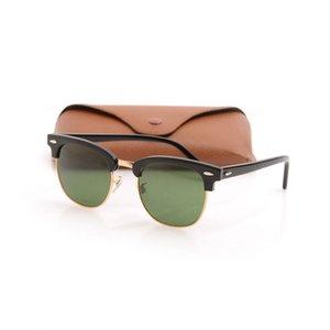 جودة عالية الرجال النظارات المعدنية المفصلي مصمم النظارات uv حماية الأزياء العين الرجال نظارات شمسية فاخرة إمرأة نظارات زجاج عدسة الناجرة 51 ملليمتر مع مربع