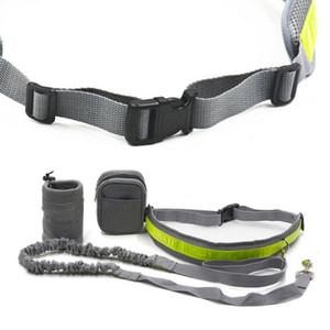 Walking Running Dog Leash Set Training Hands Free Jogging Adjustable Elastic Outdoor Reflective Strip With Bag Pet Waist Belt Collars & Leas