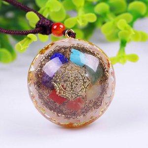 Reiki Healing Colorful Stone Natural Chakra Orgone Energy Pendant Necklace Pendulum Amulet Orgonite Crystal Jewelry Necklaces