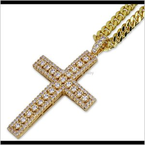 Clamps Jewelry Pendant Micro Cross Mens Necklace Egyptian Pave Prayer Hip Hop Pendants Cz Stones Style Unvdi Ppyjc D9N1Q