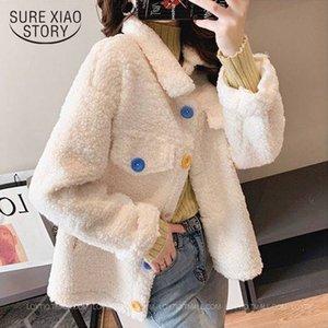 Mode Imitation Cashmere Automne Épaisseur Hiver 2020 Manteau de laine Femmes Cardigan Sweet Woman Jacket 11828