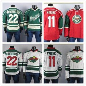 Minnesota Wild Hockey Jerseys 11 Zach Parise Jersey 22 Niederreiter Alta Calidad Bordado Hombre de hielo cosido