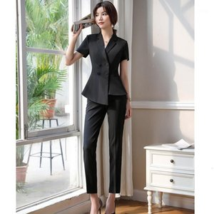 Formal Office Ladies Pant Suits for Women Business Suits Black Blazer and Jacket Sets Work Wear Uniform Styles1