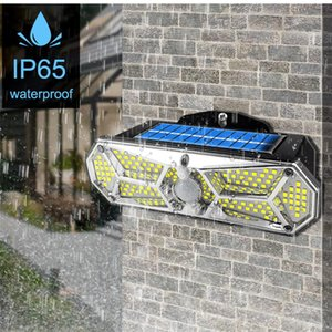 Solar Lamps 158 LED Super Bright Lights Outdoor Motion Sensor IP65 Waterproof Wireless Wall Lamp With 3 Modes And 8 Wide Angle