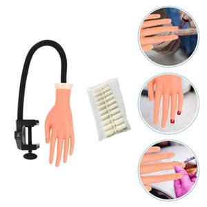 False Nails 500pcs With Manicure Practice Fake Hand Model Nail Art Accessories