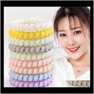 Telefondrahtkabel Cum Krawatte Mädchen Haarband Ring Seil Armband Haarschmuck 4cm Party Favor Geschenke XD21586 LPCVR QJKFL