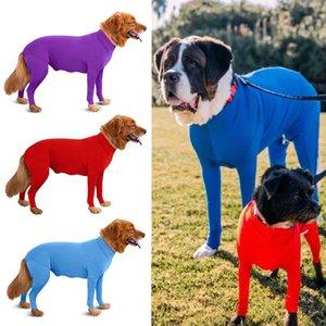 Four Feet Dog Lightweight Pajamas Pure Dog Jumpsuits 4 Legs Dog Onesies T-Shirt PJS Puppy Pet Costume for Large Medium Dogs