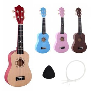 21 Inch Soprano Ukulele Beginners Children Christmas Gifts Hawaii Four String Guitar +String+Pick Musica Instrument