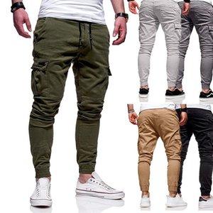 السراويل الرجال 2021 الرجال ركض عارضة الذكور البضائع العسكرية sweatpants الصلبة متعددة جيب الهيب هوب اللياقة البدنية السراويل سفاري الرياضية