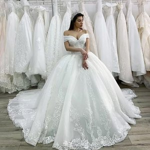 Kralen Princess Wedding Luxe Gown 2021 Edge Applications Lace Up Baljurk Illusion Bridal Adjustment Vestido De Noiva