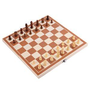 Wooden puzzle high-grade folding children's portable chessboard parent-child interactive desktop toy
