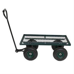 2022 Оборудование для полива 86 * 46 * 97см Железная древесина Четыре колеса квадратный сад вагон зеленый