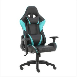 2022 Commercial Furniture Gaming Office Swivel Chairs with headrest and Lumbar Pillow Blue-A stools desk