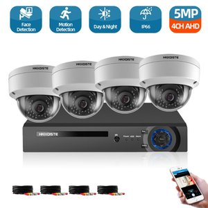 System 5mp Video Surveillance DVR With 4PCS 3.6MM 1080P HD Night Vision Home Security Camera Kit 2TB Wireless Kits
