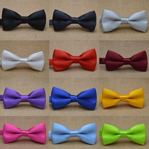 Ties Aessoriesclassic Kid Bowtie Boys Grils Baby Children Bow Tie Fashion 25 Solid Color Mint Red Black White Green Pets Drop Delivery 2021
