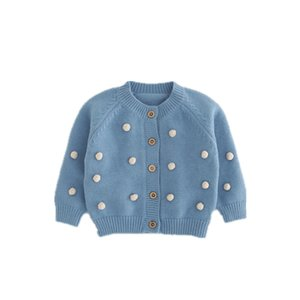 Autumn Winter cute girls ball sweater cardigans baby girl soft single-breasted sweaters kids clothes outwear 201104 231 Z2
