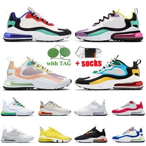 Top Quality Men Womens Running Shoes React Bauhaus Blue Light Arctic Pink Sneakers Right Violet University Red Worldwide White Yellow Black Trainers