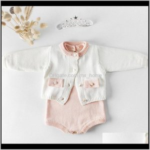 Sets Baby, & Maternitybaby Girls Knit Long Sleeve Wool Knitted Rompers Baby Princess Triangle Jumpsuit Toddler Kids Autumn Winter Clothing Dr