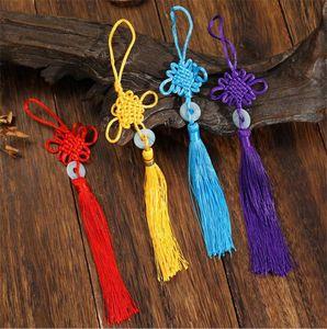 Lucky Cute Chinese Knots Pendants Pretty Jade Decor DIY Handicraft Tassel Hanging Accessories Fashion Car Interior Decorations Arts