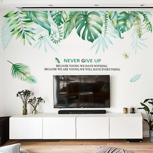 Nordic Plant Wall Stickers Green Leaf Home Decor Living Room Teen Decoration Modern Bedroom Decals For Furniture