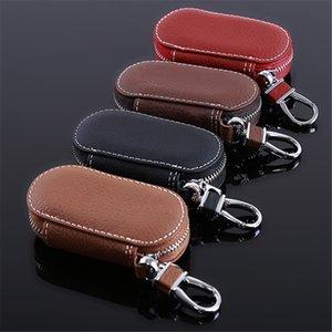 Leather Car Key Wallets Men Key Holder Housekeeper Keys Organizer Women Keychain Covers Zipper Key Case Bag Pouch Purse