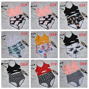 Two-piece Separates Sexy strap bikini Split-body swimsuit High waist bathing suit for spring summer swimming equipment 24
