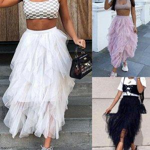 Skirts Fashion Womens Underskirt Petticoat Wedding Princess Tutu Skirt Ladies Tulle Mesh Elastic High Waist Layers Pleated Maxi