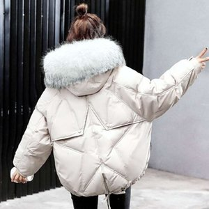 Women's Down & Oversize Winter Puffer Jacket for Women Outerwear Womens Parkas Fur Hooded Cotton Padded Female Coat Warm Outwear D6PH