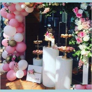 Other Festive & Party Supplies Home Garden Metal Rack Macaron Dessert Iron Stand Cake Holder Pillar Cylinder Pedestal For Baby Shower