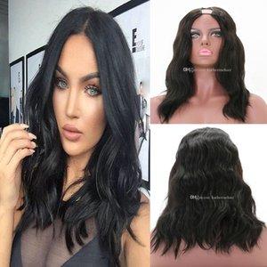 Real Human Hair Wig U Parte Corpo Onda Brasiliana Parrucche ubart per le donne nere 10 pollici - 24inch